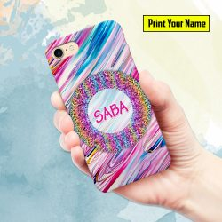 Fancy - Print Your Name Mobile Cover - Design #003