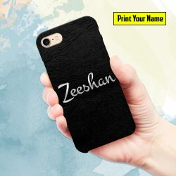 Silver - Print Your Name Mobile Cover - Design #001