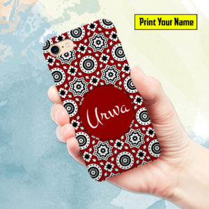 Ajrak - Print Your Name Mobile Cover - Design #006